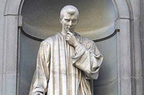 Article : 3 mai – Il faut réhabiliter Nicolas Machiavel